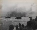 US Marines in assault craft approaching Peleliu, Palau Islands, 15 Sep 1944