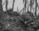 US Marines fighting on Peleliu, Palau Islands, Sep 1944