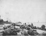 United States Marines attacking Orange Beach on Peleliu, 15 Sep 1944