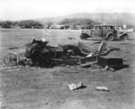 Destroyed automobile, US Territory of Hawaii, Dec 1941