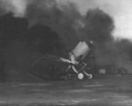 Destroyed SB2U Vindicator aircraft, Ewa Field, Oahu, US Territory of Hawaii, 7 Dec 1941