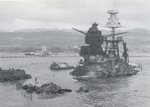 Wreckage of USS Arizona, 10 Dec 1941. Photo 1 of 3