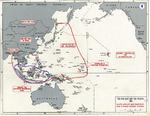 Map noting Japanese objectives in the opening stages of the Pacific War in late 1941 to early 1942