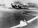 Japanese aircraft attacking Pearl Harbor, Oahu, US Territory of Hawaii, 7 Dec 1941