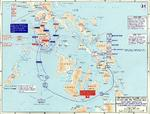 Map depicting the campaign in the Philippine Islands, 13 Dec 1944-24 Jan 1945