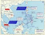 Map of final Allied offensives in the southwest Pacific area, 29 Feb-1 Jul 1945