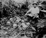 The eight skulls found by Pedro Cerono, 23 Nov 1945; they were the evidence of the 1 Jul 1945 Tapel Massacre