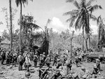 American troops and equipment on a Leyte, Philippine Islands beachhead, 20 Oct 1944
