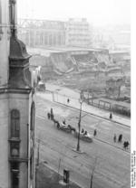 View from Hotel Polonia in central Warsaw at the corner of Jerusalem Avenues and Poznańska Street, Poland, 2 Nov 1939