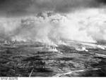 Aerial view of Warsaw, Poland, Sep 1939, photo 3 of 3; note columns of smoke from fires