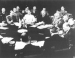Stalin, Attlee, Truman, and others at the Potsdam Conference, Germany, 28 Jul 1945, photo 4 of 4