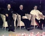 Attlee, Truman, and Stalin at Potsdam Conference, circa 28 Jul to 1 Aug 1945, photo 1 of 5