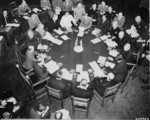 Stalin, Attlee, Truman, and others at the Potsdam Conference, Germany, 28 Jul 1945, photo 3 of 4