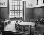 Conference table, Schloss Cecilienhof, Potsdam, Germany, 13 Jul 1945, photo 2 of 2