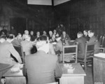 Meeting of Allied foreign ministers, Schloss Cecilienhof, Potsdam, Germany, 24 Jul 1945, photo 1 of 3; note James Byrnes of US, Anthony Eden of UK, and Vyacheslav Molotov of USSR