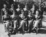 Henry Arnold with his staff during the Potsdam Conference, Germany, 27 Jul 1945, photo 1 of 2