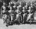 Henry Arnold with his staff during the Potsdam Conference, Germany, 27 Jul 1945, photo 2 of 2