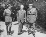 Harold Alexander, Henry Stimson, and Henry Wilson during the Potsdam Conference, Germany, 19 Jul 1945
