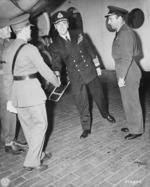 Lord Louis Mountbatten arriving at Berlin-Gatow airfield, Germany for the Potsdam Conference, 24 Jul 1945