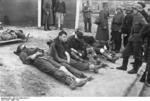 British prisoners of war, Saint-Nazaire, France, late Mar 1942