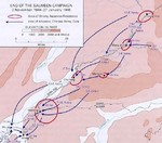 Map depicting the Salween Offensive, 3 Nov 1944-27 Jan 1945
