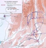 Map depicting the Salween Offensive, 11 May-30 Jun 1944
