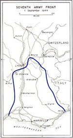 Map depicting the US 7th Army