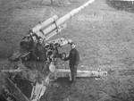 Slovakian resistance fighters with a captured German 8.8cm gun, 1944