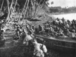 New Zealand troops landing on Vella Lavella, Solomon Islands, circa mid- or late-1943