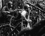 US Army infantrymen fighting in the jungles of Vella Lavella, Solomon Islands, 13 Sep 1943