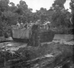 US Army LVT vehicle in mud, Cape Gloucester, New Britain, circa late 1943