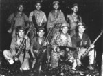 US Marine code talkers on Bougainville, Solomon Islands, Dec 1943
