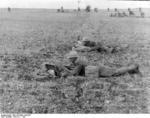 Spanish Nationalist infantry in the field, Battle of Guadalajara, Spain, Mar 1937, photo 1 of 2