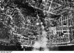 Aerial view of Stalingrad from a German bomber, Russia, Aug 1942