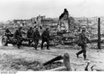 German troops moving an infantry gun, Stalingrad, Russia, Oct 1942