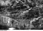 Aerial photo of Stalingrad Tractor Factory named for Dzerzhinsky after German capture, Stalingrad, Russia, 17 Oct 1942