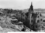 A German-style building in Stalingrad, Russia that the German troops called the