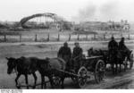 German troops on horse carriages near a destroyed Russian airfield, Stalingrad, Russia, Sep 1942
