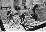 Soviet troops fighting in the ruins of Stalingrad, Russia, late 1942 or early 1943