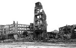Ruins of a building in Stalingrad, Russia, date unknown