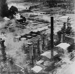Ploiesti oil tanks and refineries aflame after American raid, 1 Aug 1943