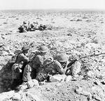 Australian troops in a foxhole near Tobruk, Libya, Apr-Dec 1941