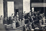 The defendants at the International Military Tribunal for the Far East, Ichigaya Court, Tokyo, Japan, May-Jun 1946