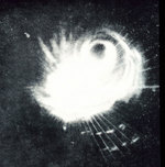 Radar image of Typhoon Cobra, captured by radar system of a US Navy ship, 18 Dec 1944
