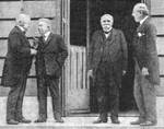 Lloyd George, Orlando, Clemenceau, and Wilson met in Paris to discuss the Treaty of Versailles, 1919