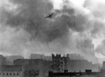 Ju 87 Stuka dive bomber over Warsaw, Poland during the Warsaw Uprising, Aug 1944