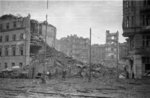 A school destroyed during the uprising, Warsaw, Poland, 2 Aug 1944