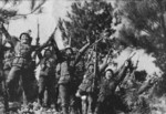 Victorious Chinese troops at Kunlun Pass, Guangxi Province, China, 31 Dec 1939, photo 2 of 2