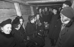 Finnish civilians in a bomb shelter, Helsinki, Finland, 2 Dec 1939