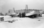 Crashed Soviet Tupolev ANT-40/SB aircraft in Finland, Dec 1939